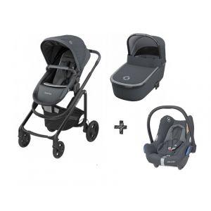 Kinderwagen 3-in-1 Maxi-Cosi Lila CP Essential Graphite + Autostoel Maxi-Cosi CabrioFix Essential Graphite