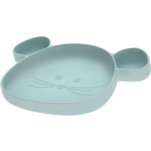 Bord Siliconen Zuignap Lässig Little Chums Mouse Blue