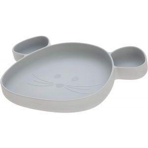 Bord Siliconen Zuignap Lässig Little Chums Mouse Grey