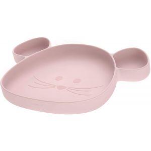 Bord Siliconen Zuignap Lässig Little Chums Mouse Rose
