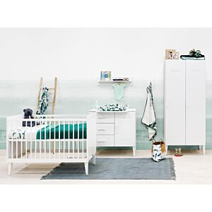 Babykamer Bopita Locker (2-deurs) incl. Matras en Wandrek