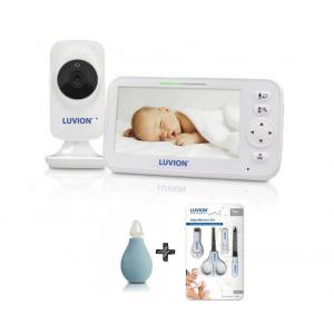 Babyfoon Luvion Icon Deluxe White Edition Set met Luvion Verzorgingsset