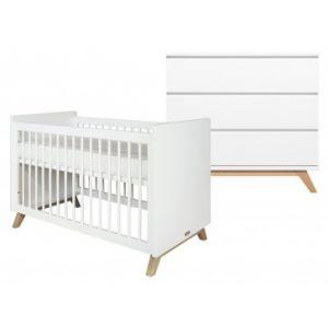 Babykamer Bopita Lynn Ledikant + Commode