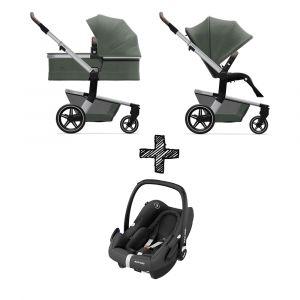 Kinderwagen Joolz Hub+ Marvellous Green met Autostoel