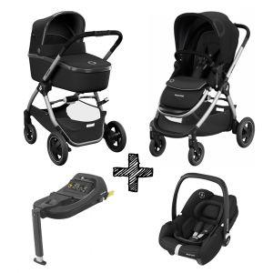 Kinderwagen 2-in-1 Maxi-Cosi Adorra 2.0 Essential Black met Autostoel Tinca Black & Tinca Base