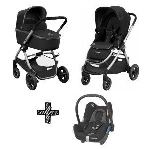 Kinderwagen 3-in-1 Maxi-Cosi Adorra 2.0 Essential Black met Maxi-Cosi Cabriofix