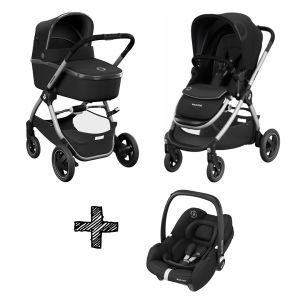 Kinderwagen 2-in-1 Maxi-Cosi Adorra 2.0 Essential Black + Autostoel Maxi-Cosi Tinca