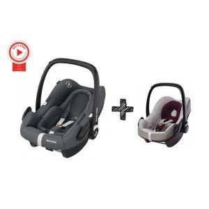 Autostoel Maxi Cosi Rock Essential Graphite + Beschermhoes