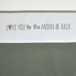 Laken Wieg Meyco Love You To The Moon & Back 413064 Forest Green