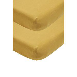 Meyco Hoeslaken 2st. Wieg 40x80/90 563210 Honey Gold