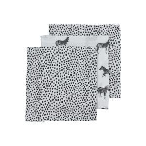 Hydrofiele luier Meyco Zebra animal-Cheetah 452040 black 3-pack