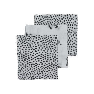Monddoekjes Hydrofiel Meyco Zebra animal-cheetah 457040 Black 3-pack