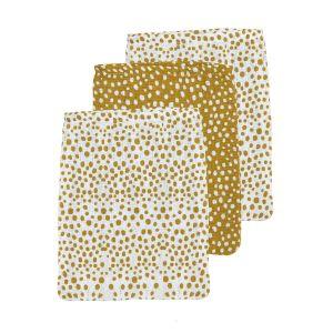 Washandjes Hydrofiel Meyco Cheetah 458037 Honey Gold 3st.