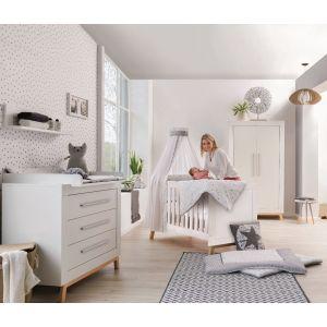 Babykamer Nordica Miami Iron (Ledikant + Commode)