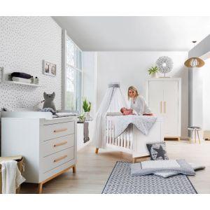 Babykamer Nordica Miami Wood White (2-deurs)