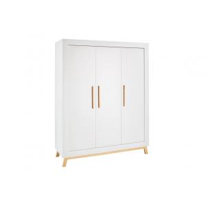 Kast Miami Wood White 3-deurs