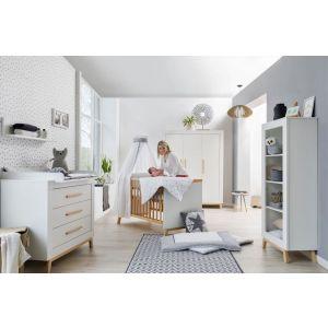 Babykamer Doorgroei Nordica Miami Wood White (2-deurs)