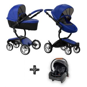 Set | Kinderwagen Mima Xari Royal Blue + Autostoel