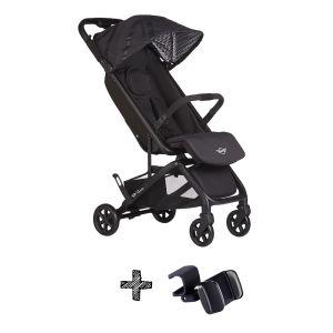 Buggy Easywalker Miley Mini GO Oxford Black + Gratis Steering Wheel & Telefoonhouder