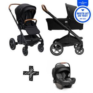 SET | Kinderwagen Nuna Mixx Next Caviar + Autostoel Nuna Pipa Next Compatible Caviar