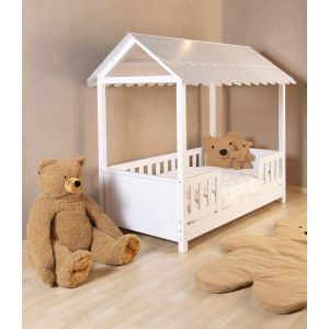 Peuterbed Childhome Huis Bed Wit 70x140