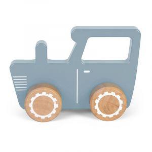 Houten Tractor Little Dutch Blauw 1