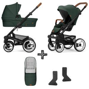 Kinderwagen Mutsy Nio 2021 - Adventure Pine Green met Voetenzak & Adapterset
