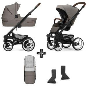 Kinderwagen Mutsy Nio 2020 - Journey Taupe Grey met Voetenzak & Adapterset