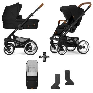 Kinderwagen Mutsy Nio 2021 - North Black met Voetenzak & Adapterset