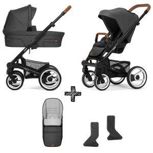 Kinderwagen Mutsy Nio 2021 - North Grey met Voetenzak & Adapterset
