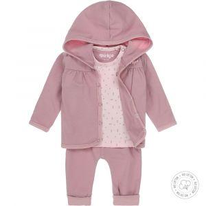 Babypakje 3-delig Dirkje NOOS Bio Cotton Mauve/Light Pink