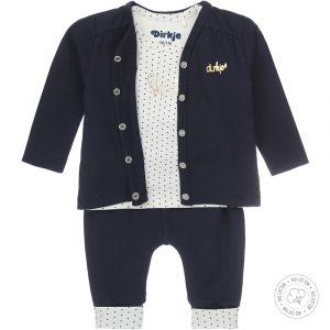 Babypakje 3-delig Dirkje NOOS Bio Cotton Stip Navy/Off White