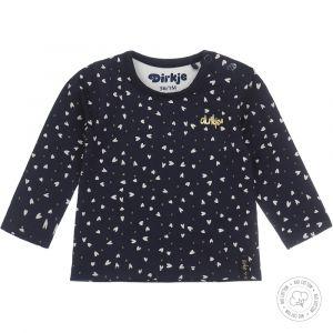 Shirt Dirkje NOOS Bio Cotton Hearts Navy