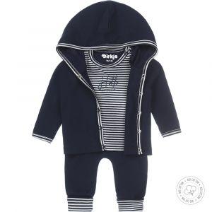 Babypakje 3-delig Dirkje NOOS Bio Cotton Streep Navy/Off White