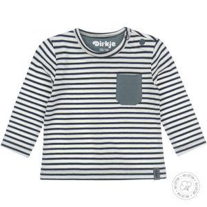 Shirt Dirkje NOOS Bio Cotton Dusty Green/Off White