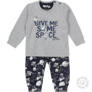 Pyjama Baby Dirkje NOOS Bio Cotton Space Grey Melee/Navy