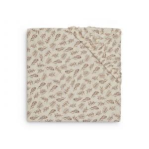Hoeslaken Boxmatras Jollein 75x95 Jersey Meadow Chestnut