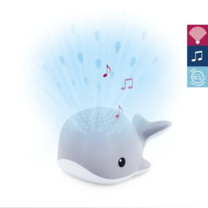 Lichtprojector ZAZU Wally de walvis Grey
