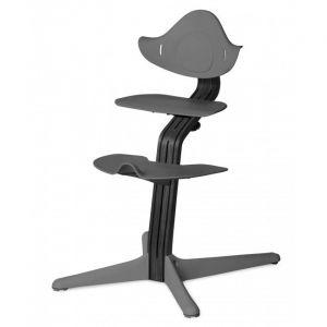 Kinderstoel Nomi Oak Black + Grey Zitting + Beugel + Eetblad