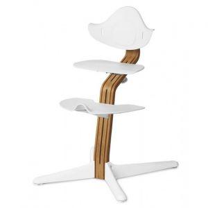 Kinderstoel Nomi Oak Natural + White Zitting + Beugel + Eetblad