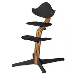 Kinderstoel Nomi Oak Natural + Black Zitting + Beugel + Eetblad