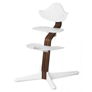 Kinderstoel Nomi Walnut Natural + White Zitting + Beugel + Eetblad