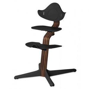 Kinderstoel Nomi Walnut Natural + Black Zitting + Beugel + Eetblad