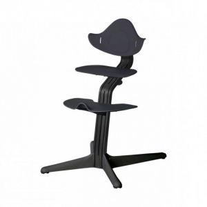 Kinderstoel Nomi Oak Black + Anthracite Zitting + Beugel + Eetblad