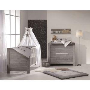 Babykamer Nordica Driftwood (Ledikant + Commode)