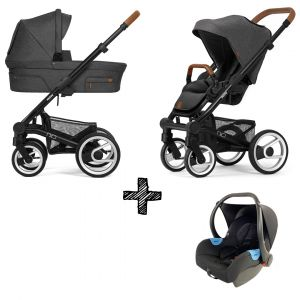 Kinderwagen Mutsy Nio 2021 - North Grey Met Autostoel