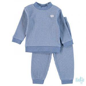 Pyjama Mini Feetje Wafel Blue Melange