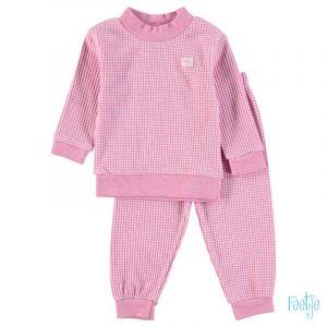 Pyjama Mini Feetje Wafel Pink Melange