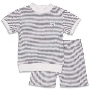 Pyjama Feetje Kort Wafel Navy Maat 56 t/m 86