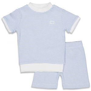 Pyjama Feetje Kort Wafel Blue Maat 56 t/m 86